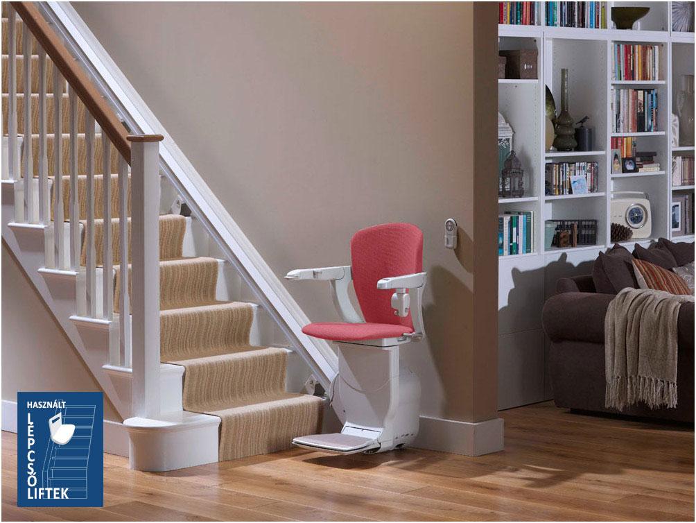 Egyenes széklift, használt lépcsőlift beépítés